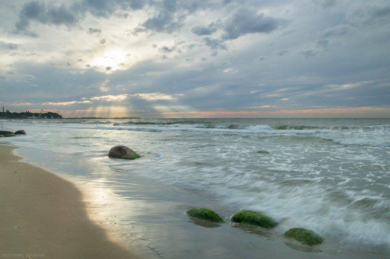 балтийское море, пейзаж, закат Сияниеphoto preview