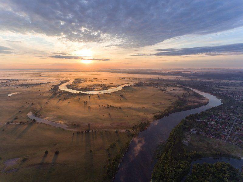 Утро, туман, рассвет, Лето, река, Десна,Украина ***photo preview