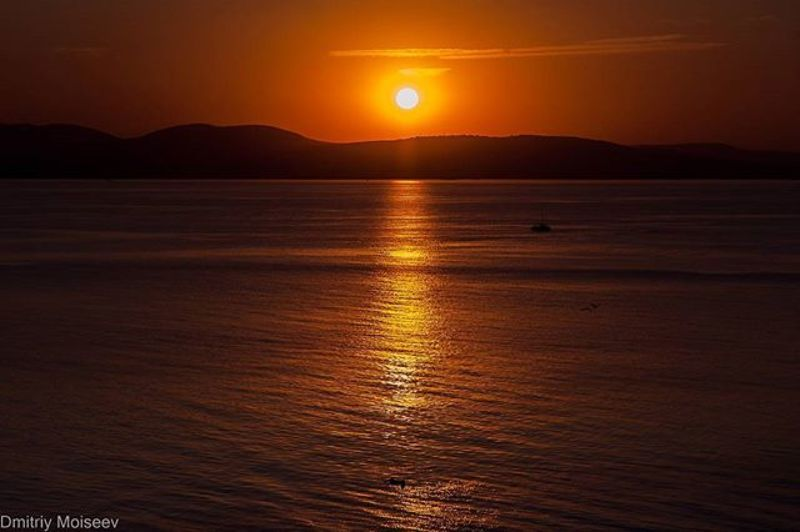 Море, закат, солнце, горы, лето, красота, новороссийск, вода, солнце  Кабардинкаphoto preview