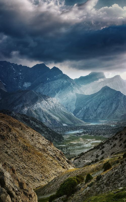пейзаж, путешествия, горы, природа Пасмурный вечер на перевале Лауданphoto preview