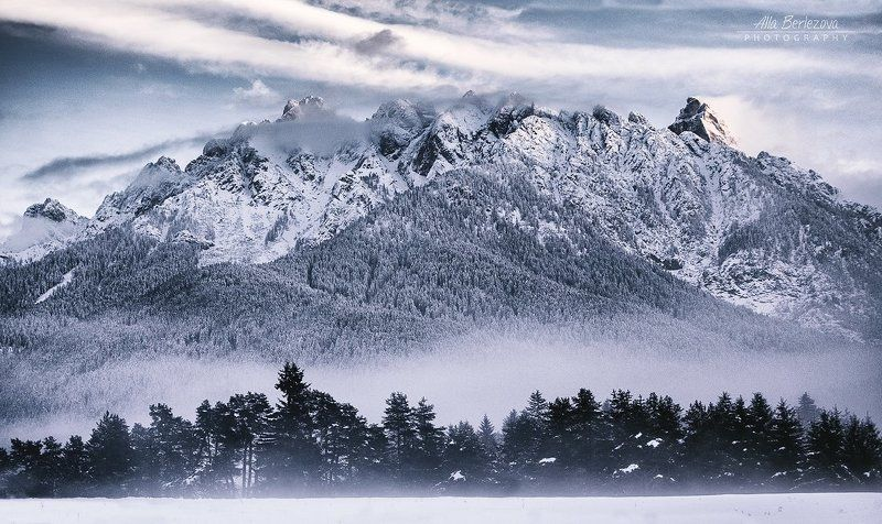 italy, dolomites, италия, доломиты, горы, mountains, winter, зима Альпыphoto preview