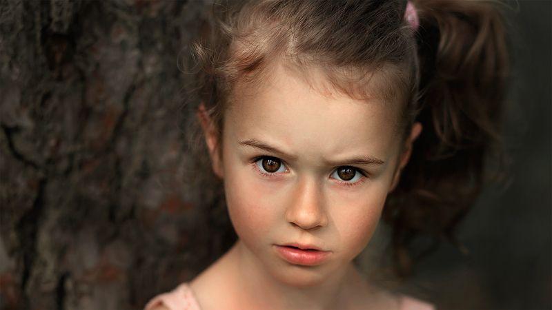 портрет дети глаза взгляд девочка красота Серьёзинкаphoto preview