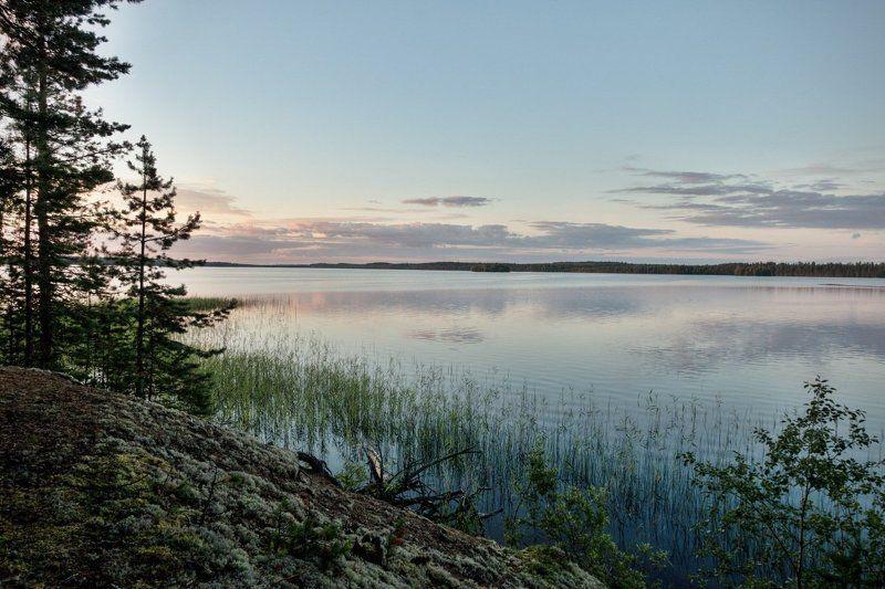 карелия Вечер на озере Мярандуксаphoto preview