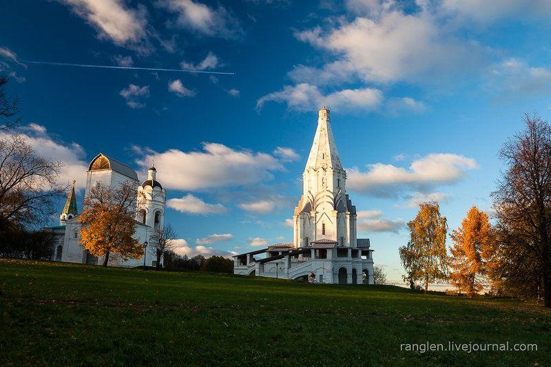 коломенское, москва, осень, золотая, небо, пейзаж Осень. Коломенское. Самолётphoto preview