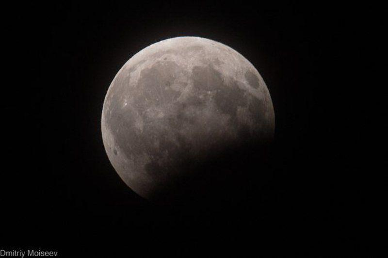 Луна, ночь, лунноезатмение, затмение Лунное затмениеphoto preview