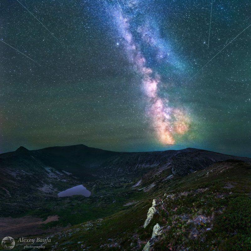 горы, озеро, звёзды, лето, млечный путь, пейзаж, ночь, Сердце горphoto preview