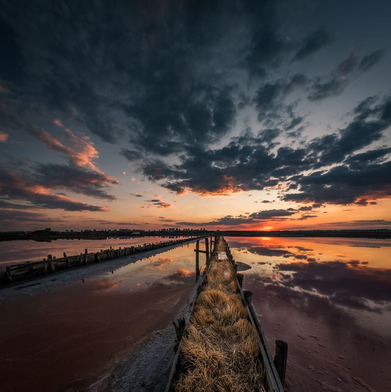 sunset, outdoor, landscape, clouds, water, sky, color, Perspevtivephoto preview