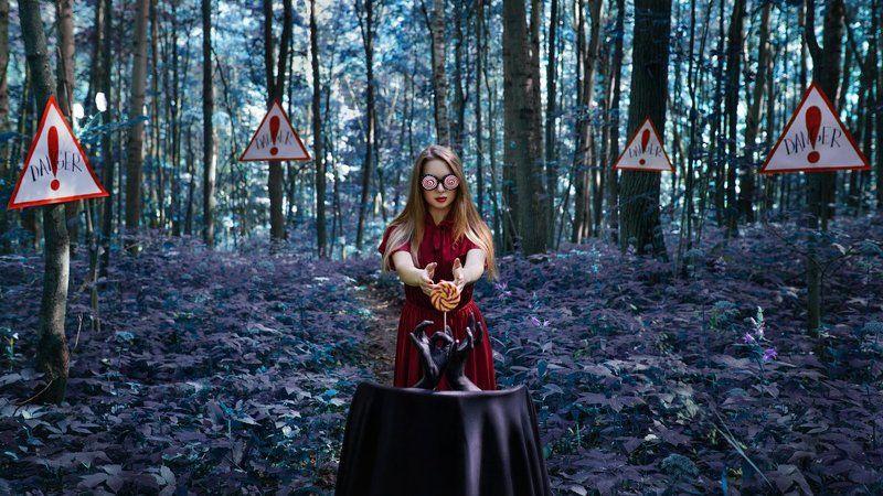 лес, опасность, мистика, магия, сказка, соблазн, гипноз Соблазнphoto preview