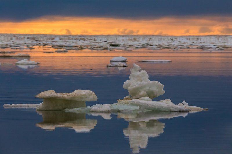 таймыр, море лаптевых, море, арктика, красноярский край, лед, льдины Затерянные в миражахphoto preview