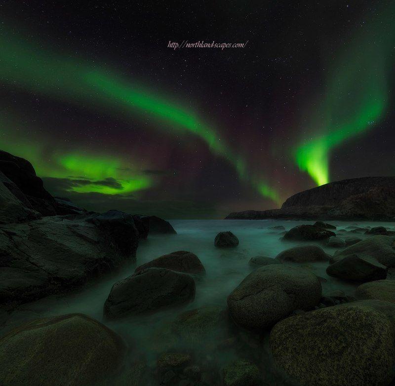 Aurora borealis, северное  сияние Aurora borealisphoto preview