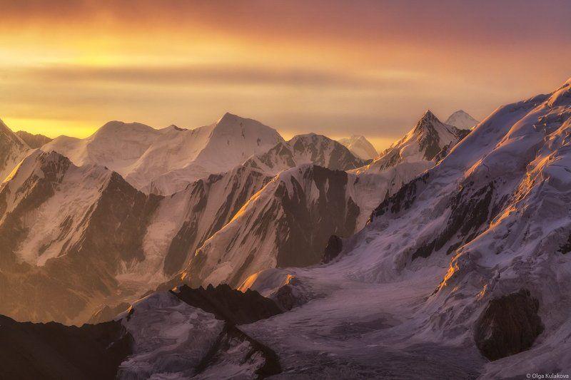 тянь-шань, рассвет, горы, пик снежного лотоса, snow lotus peak, xuelian feng Пик Снежного Лотосаphoto preview