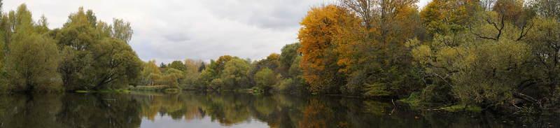 панорама, осень Октябрьская золотая ...photo preview