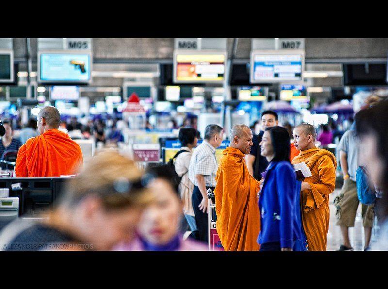 бангкок, азия, монахи монахиphoto preview