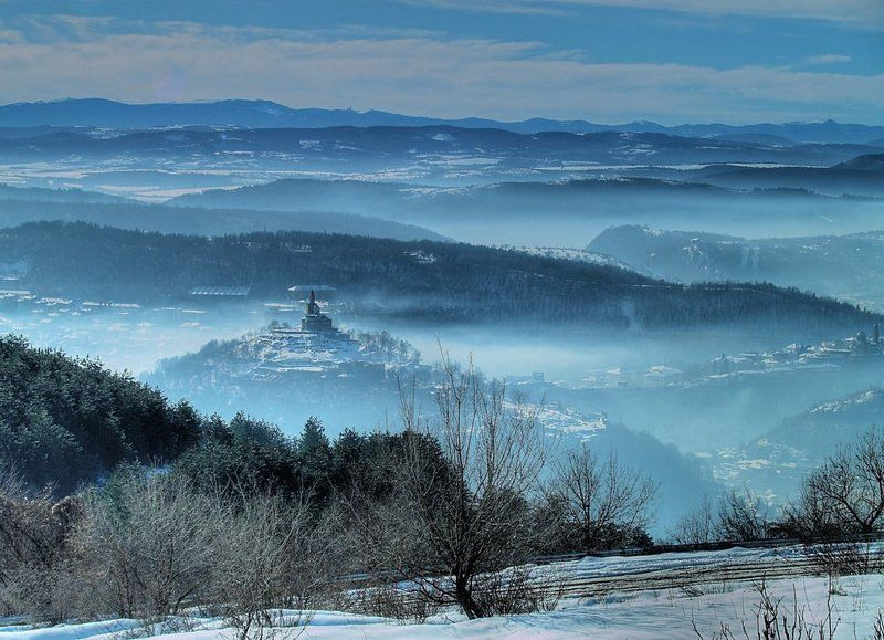 зима, сняг, крепос, царевец Зимаphoto preview