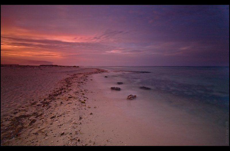 закат, красное, море, берег At the Sunsetphoto preview