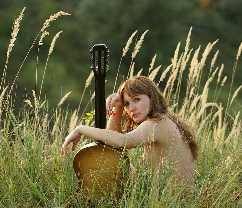 девушка, ню, природа,осень, модель, Хочется музыки...photo preview