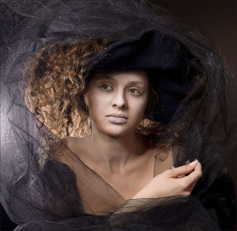 дама, вуаль, свет, студия Вуалевая..photo preview