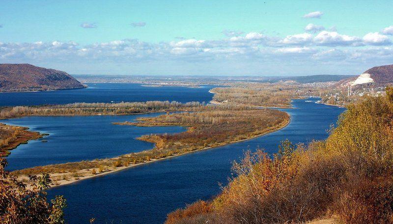 река, волга, осень Осень на Волгеphoto preview
