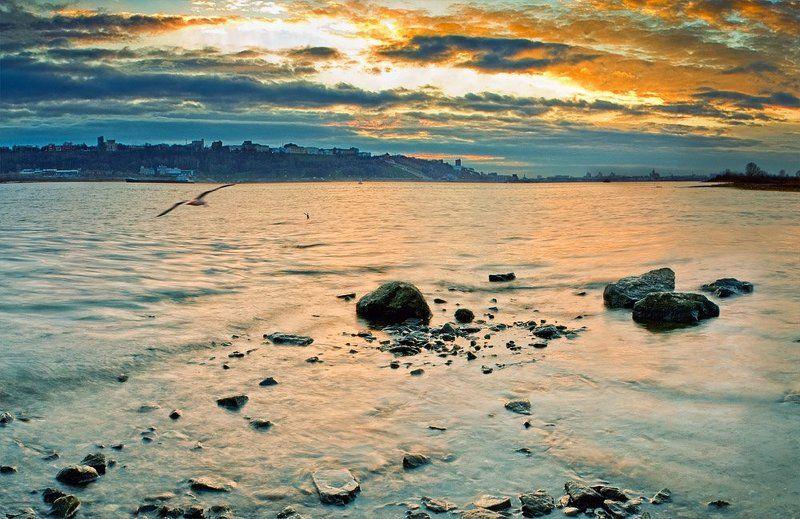 осень, закат, река история одного закатаphoto preview