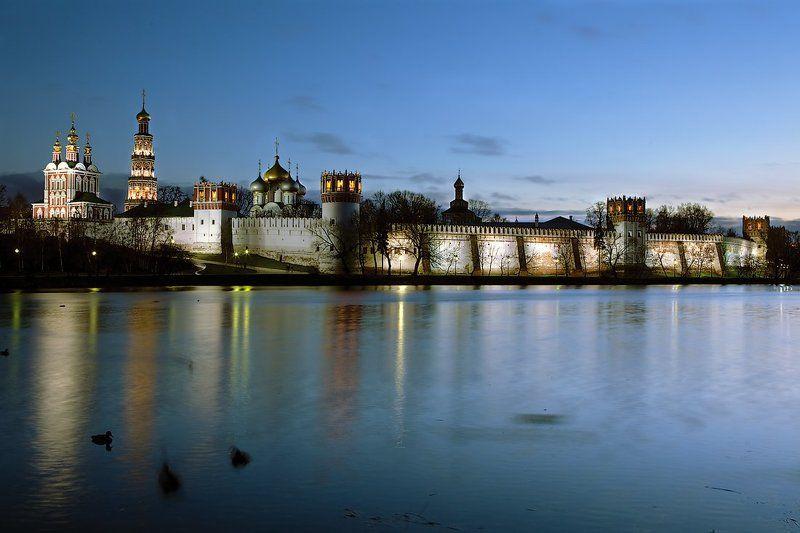 новодевичий монастырь, москва, вечер, ночное фото Новодевичий...вечерphoto preview