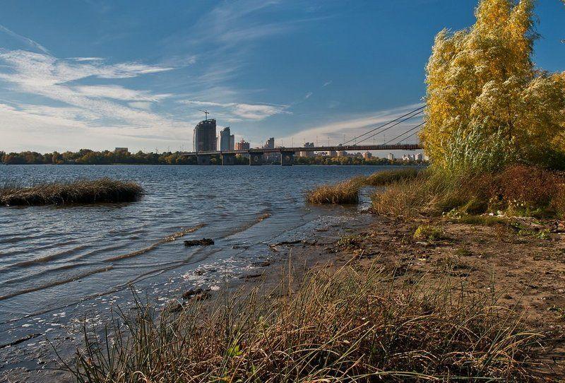 днепр, осень, облака, киев Днепровские зарисовки..photo preview