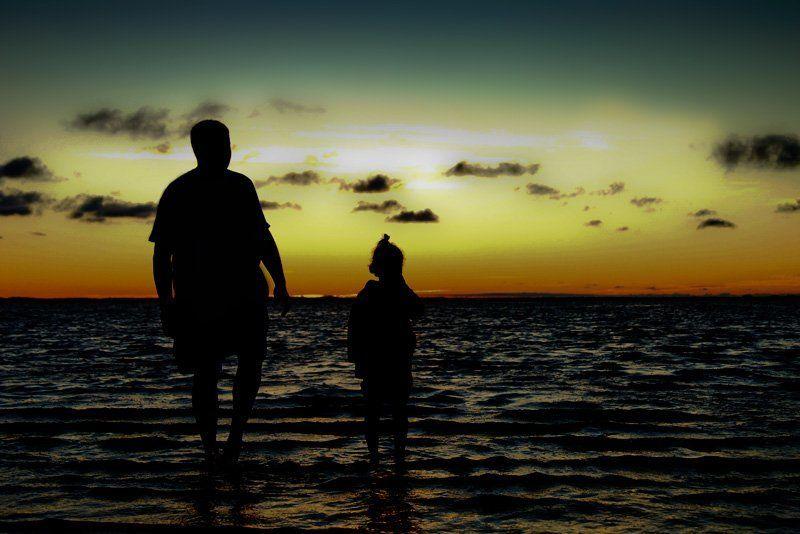 закат,море,север,люди любуясь красками заката.photo preview