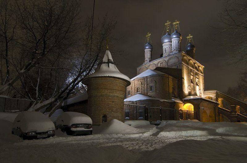 крутицкое подворье, собор, зима, вечер, москва, снег Крутицкое, морозный вечер.photo preview