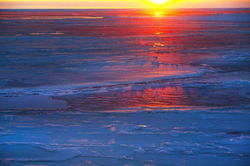 лёд, карское море, закат, ЛЁД И ПЛАМЯphoto preview