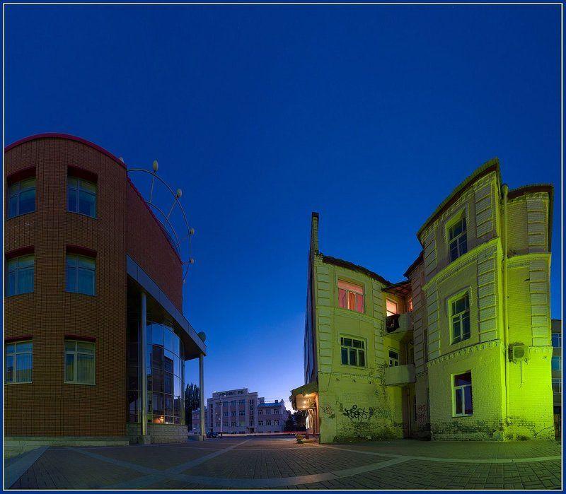 ночной, город, вечер Контрастphoto preview