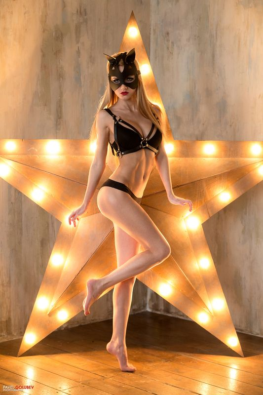 golubevphoto, mask, leather, lingerie, girl, sexy, star ***photo preview