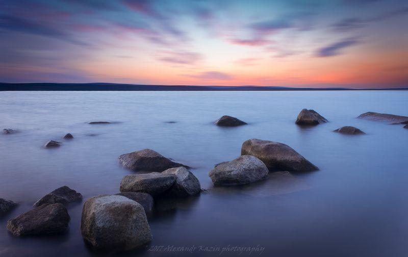 Закат на озере Шарташphoto preview