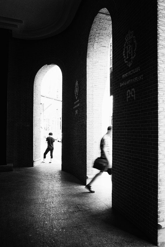 street , black and white , street photography photo preview