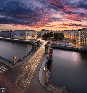 Площадь и мост Ломоносова, Фонтанка