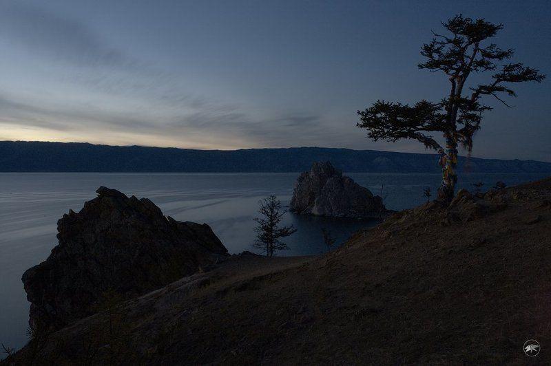 Ольхон, путешествие, Байкал, вечер, выдержка, штатив, фото, ночь, закат, горы, гора, дерево, природа, небо Доброй ночи Ольхонphoto preview