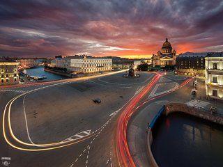 Синий мост, Исаакиевская площадь, Мойка