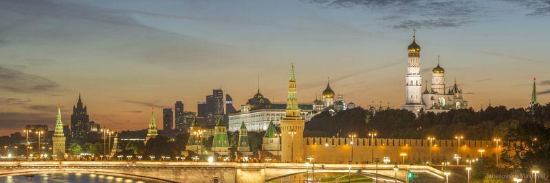 Москва, Кремль, Зарядье, Закат, Россия Вид на Кремль из Зярядья.photo preview