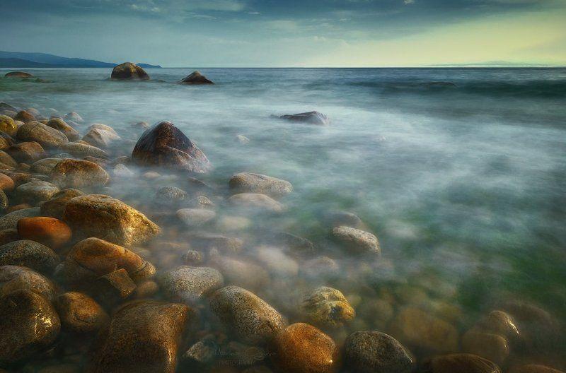 байкал, камни, закат Воспоминание о летеphoto preview