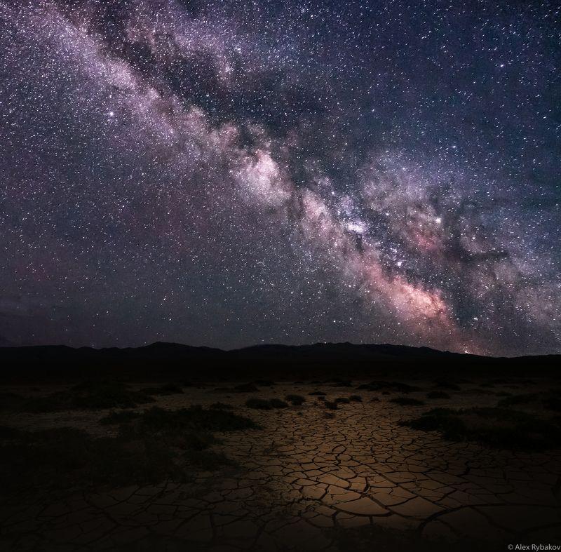ночь, гоби, млечный путь, звезды, Млечный путь над Гобиphoto preview