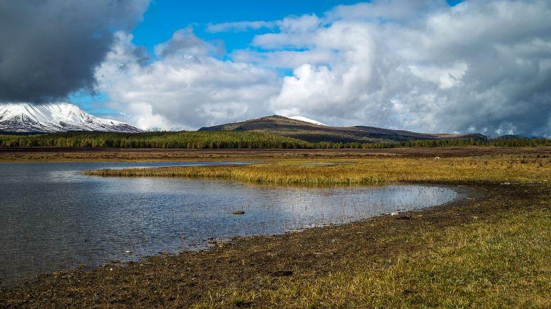 природа пейзаж алтай осень озеро  утро караколь облака горы Озеро Караколь...Горный Алтай.photo preview