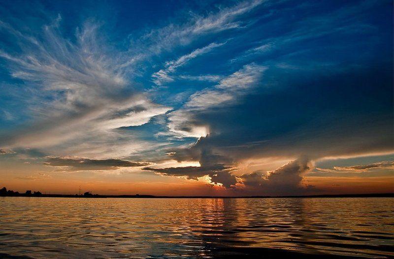 вода,закат,солнце,отражение,море,небо,минск ... краски \