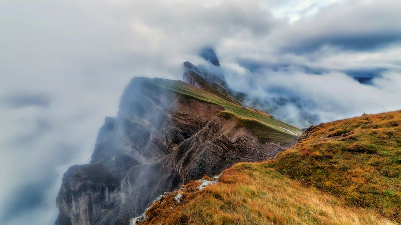 seceda dolomiti Seceda in autumnphoto preview