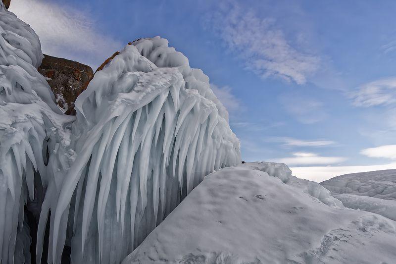 байкал, озеро, вода, снег, лёд, скалы, сукой, ольхон, грот Байкальские льды.photo preview
