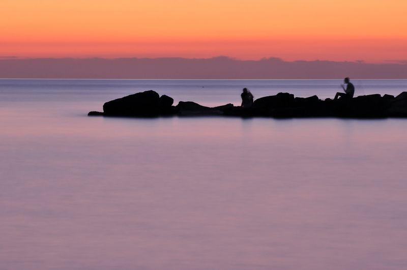 природа, пейзаж, вечер, путешествия, сочи, камни, море Вечер у моряphoto preview