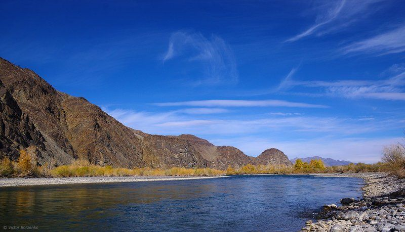 монголия, река, ховд, осень, монгольский алтай Ховд. Начало октября.photo preview