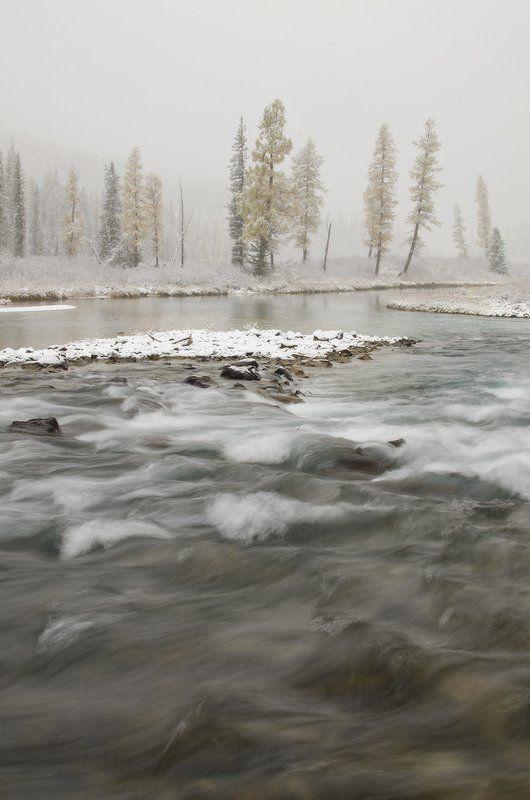 Алтай, р. Шавла на границе зимыphoto preview