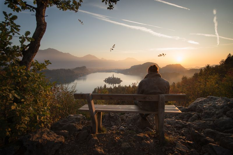 Bled, slovenia, sunrise, hope, sorrow Sorrow and hopephoto preview