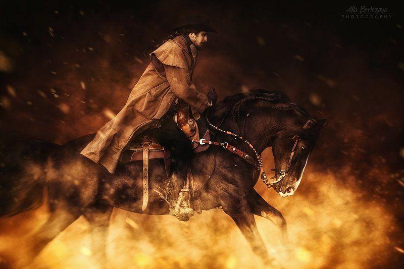 horse, western, equestrian, лошадь, вестерн, cowboy, horses, огонь, fire, лошади, владимирский, тяжеловоз ***photo preview