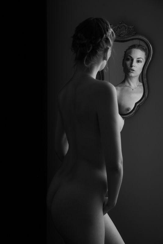 nude, girl, woman, bw, akt, ню, арт, портрет зеркало / mirrorphoto preview