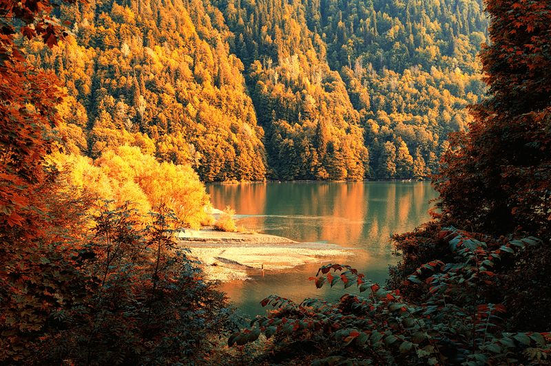 абхазия,озеро,рица,пейзаж Абхазскоеphoto preview
