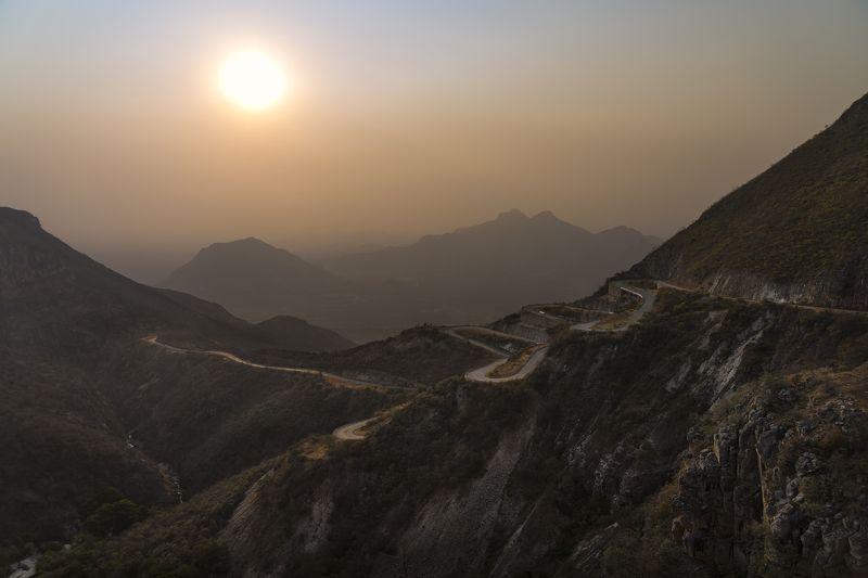 дорога, серпантин, горы, ангола, закат, Serra de lebaphoto preview
